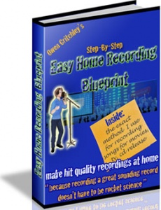 Ebook cover: Easy Home Recording Blueprint Standard