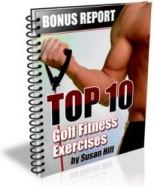 Ebook cover: The Top Ten Golf Fitness Exercises
