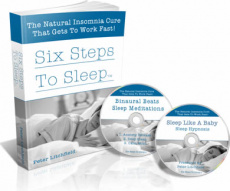 Ebook cover: Six Steps to Sleep Now