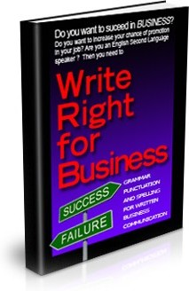 Ebook cover: Write Right For Business