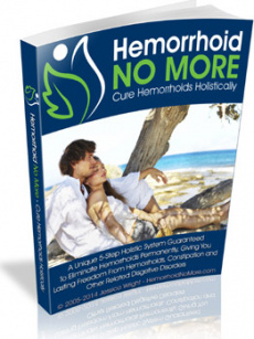 Ebook cover: Hemorrhoid No More