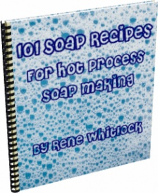 Ebook cover: 101 Soap Recipes For Hot Process Soap Making