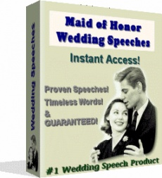 Ebook cover: MAID OF HONOR SPEECHES