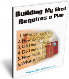 Ebook cover: My Shed Construction Requires a Plan, 6 Questions to Answer Before Building a Garden Hut