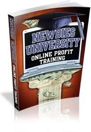 Ebook cover: Newbies University: Online Profit Training