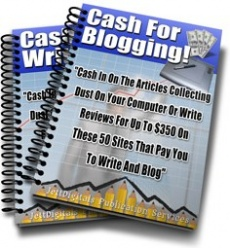 Ebook cover: Cash For Blogging and Writing