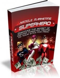 Ebook cover: Article Marketing Superhero