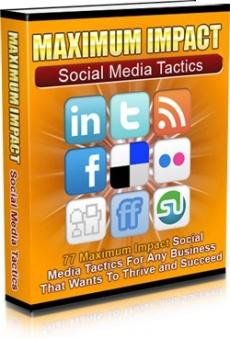 Ebook cover: Maximum Impact Social Media Tactics