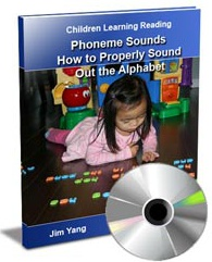 Ebook cover: Phoneme Sounds. How to Property Sound Out the Alphabet