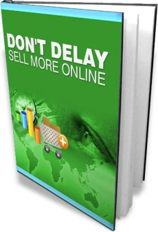 Ebook cover: Don't Delay Sell More Online