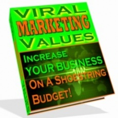 Ebook cover: Viral Marketing Values