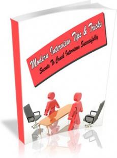 Ebook cover: Modern Interview Tips & Tricks