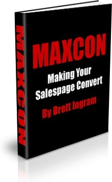Ebook cover: MAXCON - Making Your Salespage Convert