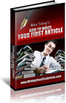 Ebook cover: How to Write Your First Article