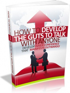 Ebook cover: How to Develop the Guts to Talk with Anyone
