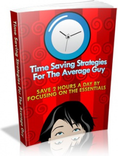 Ebook cover: Time Saving Strategies For The Average Guy