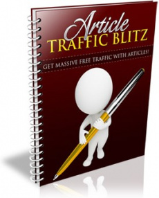 Ebook cover: Article Traffic Blitz