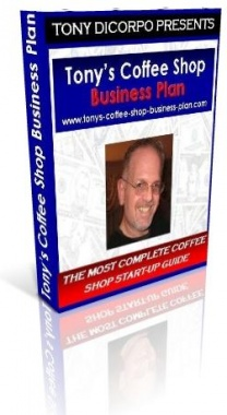 Ebook cover: Tony's Coffee Shop Business Plan