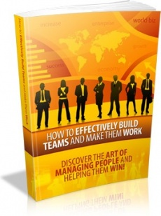 Ebook cover: How to Effectively Build Teams and Make Them Work