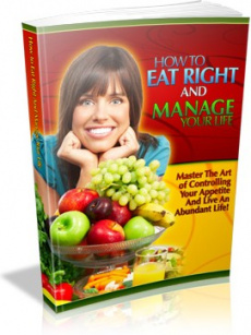 Ebook cover: How to Eat Right and Manage Your Life