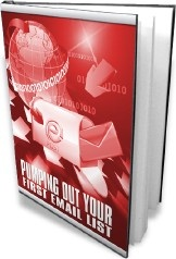Ebook cover: Pumping Out Your First Email List
