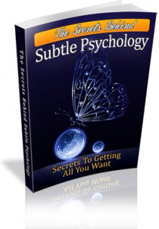 Ebook cover: The Secrets Behind Subtle Psychology