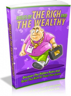 Ebook cover: Rules Of The Rich And Wealthy