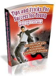 Ebook cover: Tips and Tricks for Success for Young Entrepreneurs