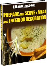 Ebook cover: Prepare and Serve a Meal and Interior Decoration