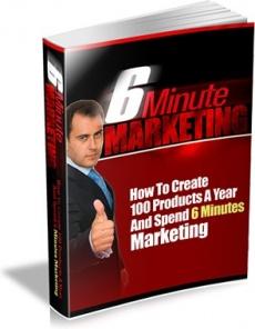 Ebook cover: 6 Minute Marketing