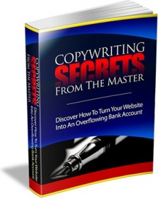 Ebook cover: Copywriting Secrets From The Master