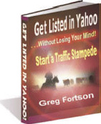 Ebook cover: Getting listed in Yahoo ... without losing your mind
