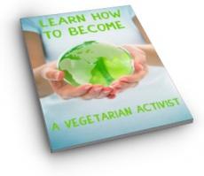 Ebook cover: Be a Vegetarian Activist