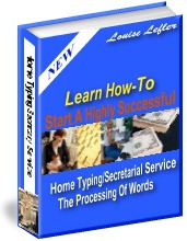 Ebook cover: Home Typing / Secretarial Service