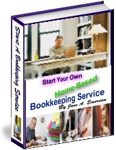 Ebook cover: Home Based Bookkeeping Service