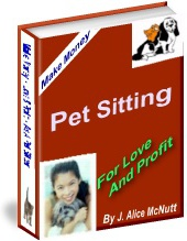 Ebook cover: Pet sitting business!