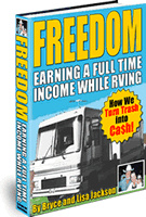 Ebook cover: FREEDOM ... EARNING A FULL TIME INCOME WHILE RVING