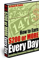 Ebook cover: How to Earn $200 or more Every Day
