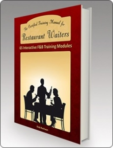 Ebook cover: The Certified Training Manual for Restaurant Waiters