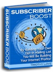 Ebook cover: Subscriber Boost