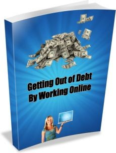 Ebook cover: Getting Out of Debt By Working Online