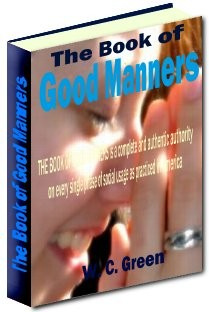 Ebook cover: The Book of Good Manners