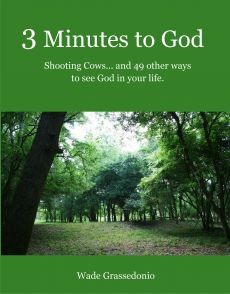 Ebook cover: 3 Minutes to God - Shooting Cows and 49 otherways to see God in your Life!