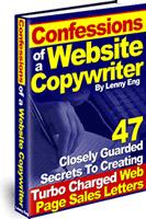 Ebook cover: Confessions of a Website Copywriter