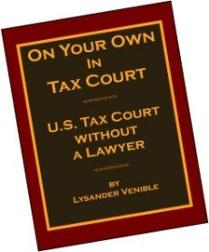 Ebook cover: On Your Own in Tax Court, U.S. Tax Court without a Lawyer