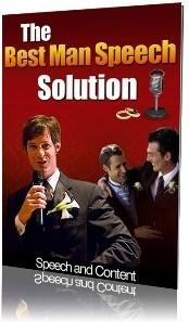 Ebook cover: The Best Man Speech Solution
