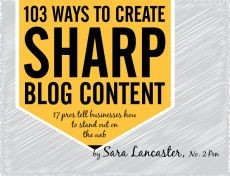 Ebook cover: 103 Ways to Create Sharp Blog Content