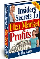 Ebook cover: Insiders Secrets To Flea Market Profits