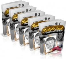 Ebook cover: Realistic Pencil Portrait Mastery