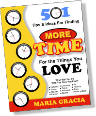 Ebook cover: 501 Tips and Ideas For Finding MORE TIME